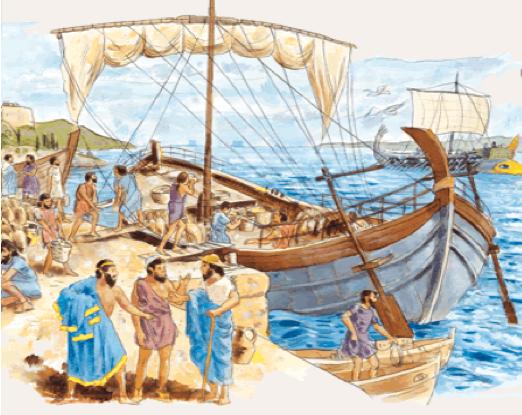 Tàu phục vụ giao thương của người Roma, 300 TCN