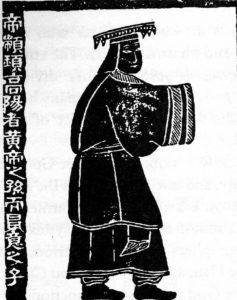 tranh vẽ Chuyên Húc thời Hán
