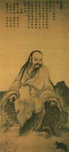 tranh lụa vẽ Phục Hy vào đời Tống
